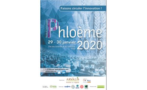 29 & 30-01-2020 Phloème, le rendez-vous scientifique et technique