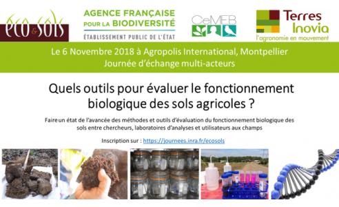 06-11-2018 : Quels outils pour évaluer le fonctionnement biologique des sols agricoles ?