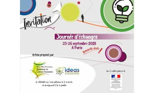 25 & 26/09/2019 : Journées d'échanges RMT SdCi - IDEAS